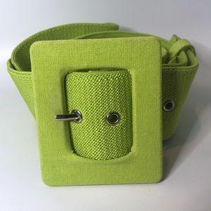 Plus size vintage green belt